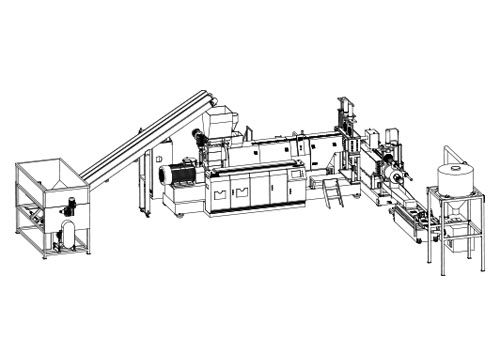 hopper feeding plastic granulator