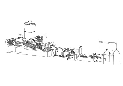 cut compactor feeding plastic granulator