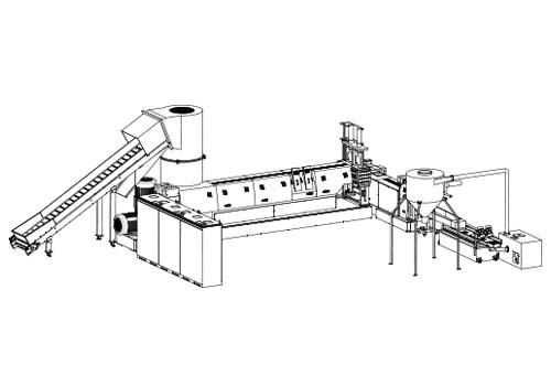 two stage plastic granulating line