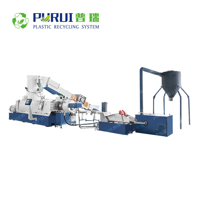 Cutter Compactor Recycling Pelletizing Line