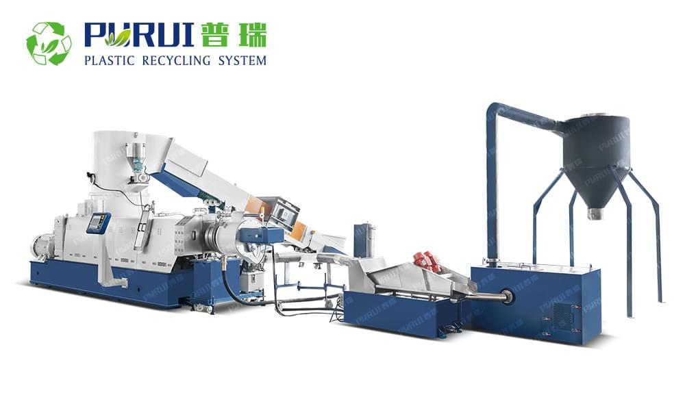 Cutter Compactor Recycling Pelletizing Line