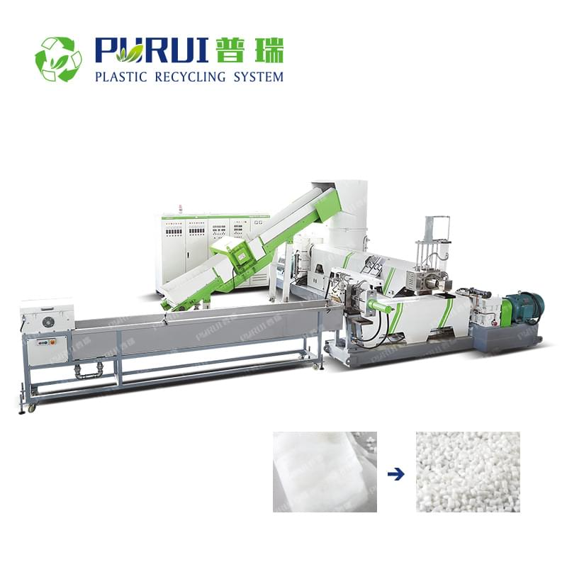 Double Stage Strand Pelletizing Recycling Machine for Non-woven Fabric