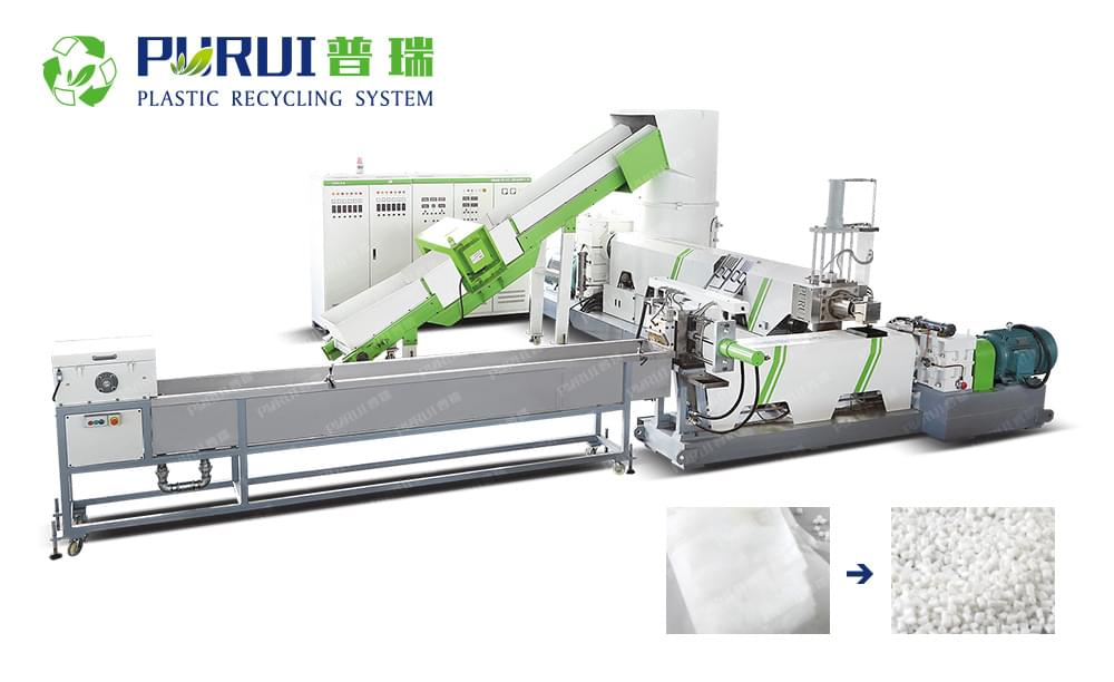 Double Stage Strand Pelletizing Recycling Machine