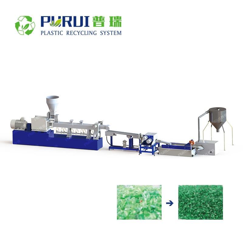PET Bottle Flakes / PET Lump Material Granulating Machine