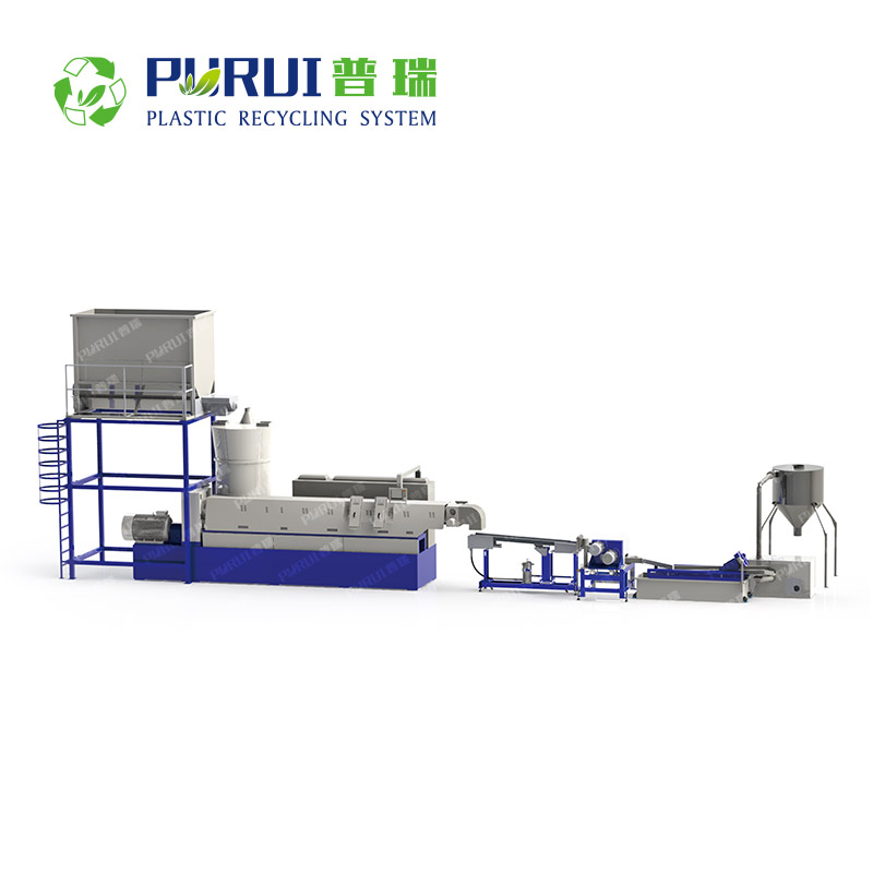 PET Pelletizing Line for Clean Washed PET Flakes