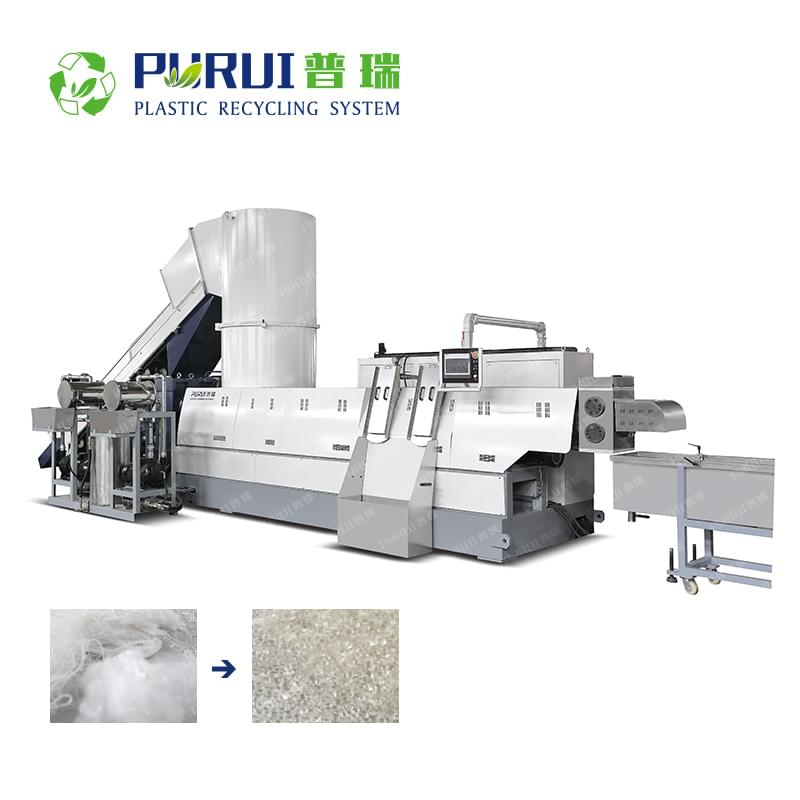 Plastic Granulating Line for PET Fibers, PET Waste Fabrics
