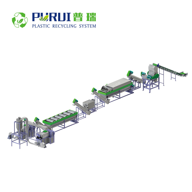 PP PE Film / PP Woven Bag Plastic Recycling Line