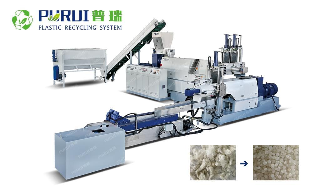 Squeezed Material Plastic Granulating Line