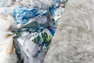 Waste Plastic Film Recycling Washing Line