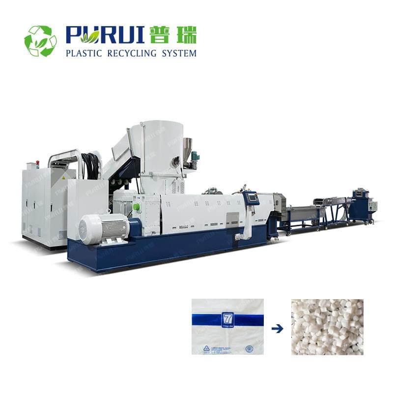 Biodegradable Plastic PBAT PLA Film / Bag Granulating Line