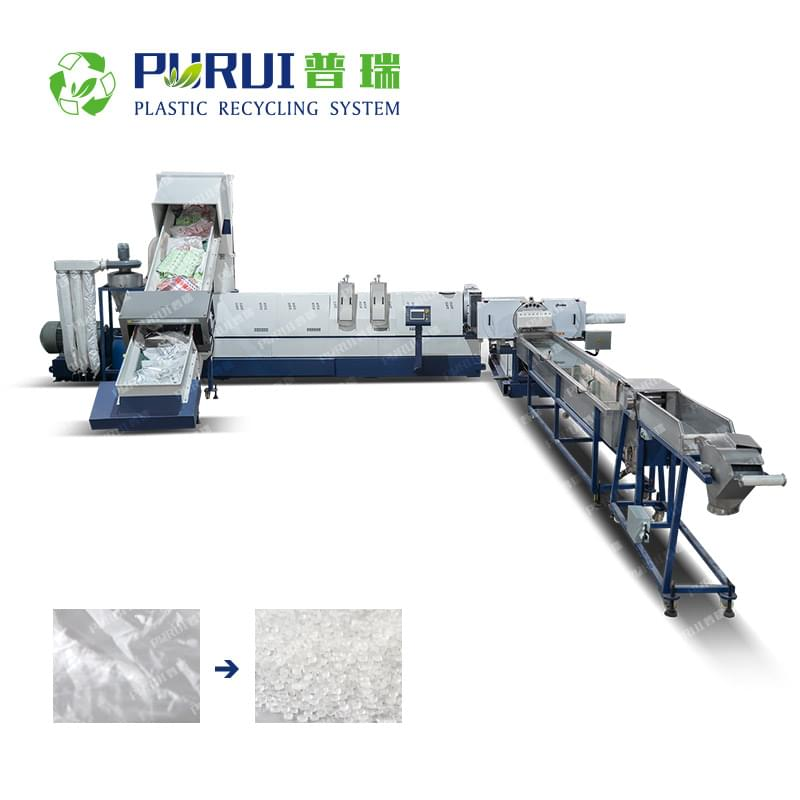 Laminated Film / PET Film / CPP Film / Non-woven Fabric Granulating Line