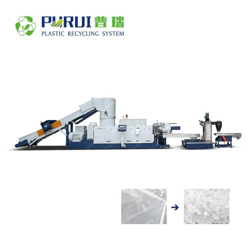 PE LDPE HDPE LLDPE Film Pelletizing Line
