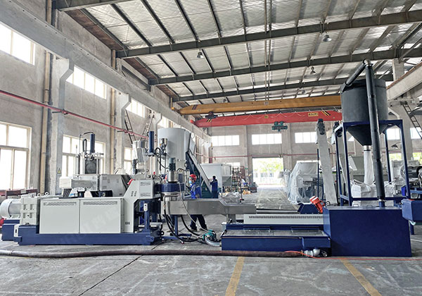 China – PP PE Film / Woven Bag Squeeze Dry Material Pelletizing Line
