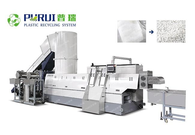 Non Woven Fabric Pelletizing Machine