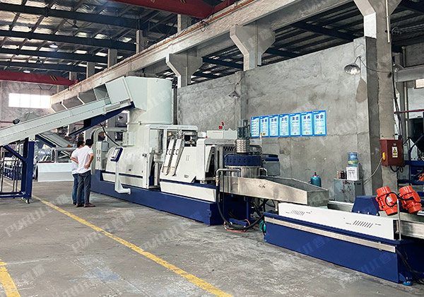 Romania – PP BOPP Film Recycling Granulting Machine With Middle Filter