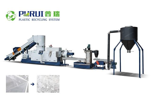 LDPE Film Pelletizing Recycling Machine