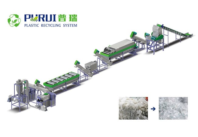 PP PE LDPE Film Washing Recycling Line